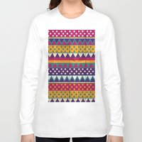mexican Long Sleeve T-shirts featuring Mexican Pattern by Eleaxart