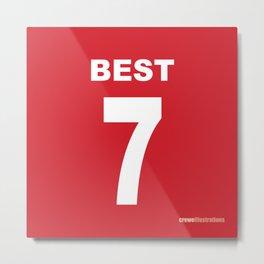 Set of Seven: Best 7 Metal Print