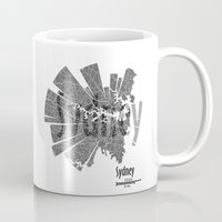 sydney Mugs featuring Sydney by Shirt Urbanization