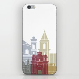 Valletta skyline poster iPhone Skin