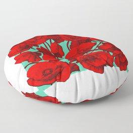 Poppies II Floor Pillow