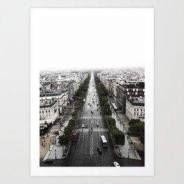 The Avenue des Champs-Elysees Art Print