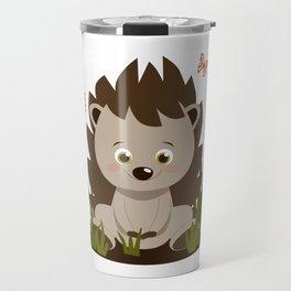 Hedgehog nursery baby art Travel Mug