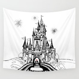 Mouse in Love Wall Tapestry
