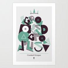 Crooked Typography Art Print