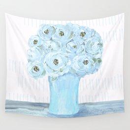 Boho still life flowers in vase Wall Tapestry