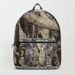 CROWDED GNARLED ASPEN TREES ON CRESCENT BEACH Backpack
