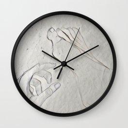 Hand and foo Wall Clock