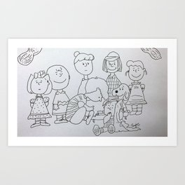 Peanuts Charlie Brown Art Print