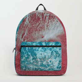 SPLASH - Electric Pink Sand and Turquoise Waves Backpack