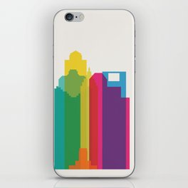 Shapes of Houston. Accurate to scale iPhone Skin