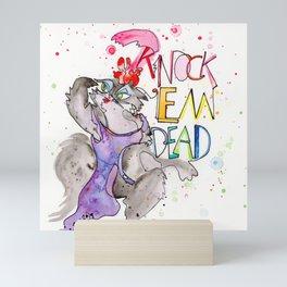 Miss Kitty : Knock 'em Dead Mini Art Print