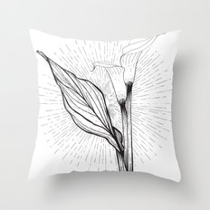 Lily in Black and White Throw Pillow