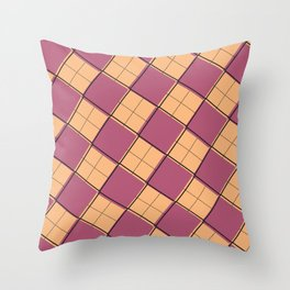 Argyle Out of Line Warm Throw Pillow