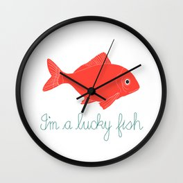Lucky Fish Wall Clock