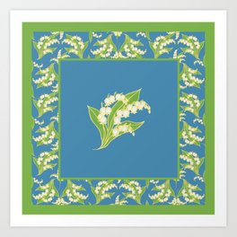 Vintage Lily-of-the-Valley Art Print