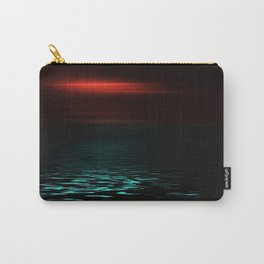 Red sky and blue sea at twilight Carry-All Pouch