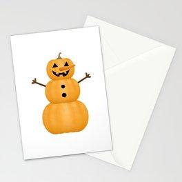 Pumpkin Snowman Stationery Cards
