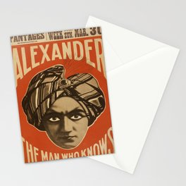 Vintage poster - Alexander, The Man Who Knows Stationery Cards