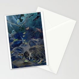 Kiwi, Bats, Morepork and More Stationery Cards