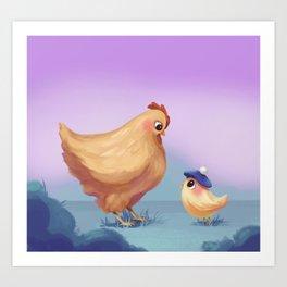 Chickies Art Print