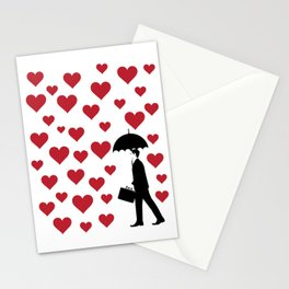 No Love Business Man Stationery Cards