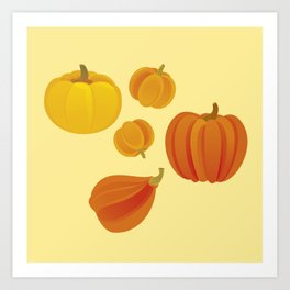 Pumpkins. Thanksgiving day. Art Print