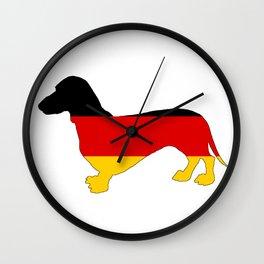 German Flag - Dachshund Wall Clock