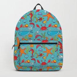 Cute Kids Ocean Sea Life Marine Pattern Backpack
