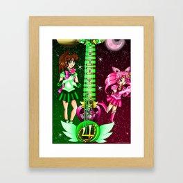 Fusion Sailor Moon Guitar #31 - Sailor Jupiter & Sailor Chibi Moon Framed Art Print
