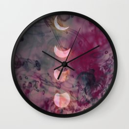Lunar phase color Wall Clock
