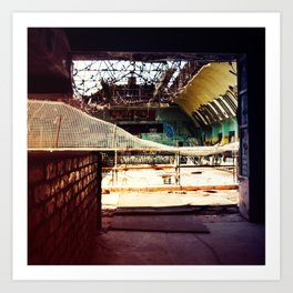 Burnt Out at the Skate Park Art Print