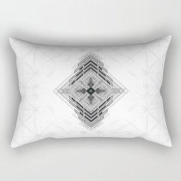 Vigorous and bold fractal geometric shapes with compass symbol Rectangular Pillow