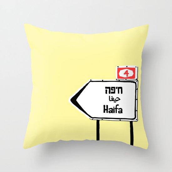 Haifa This Way Throw Pillow