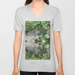 Green Reflected Unisex V-Neck