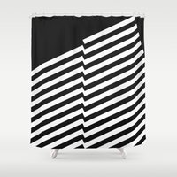 bands Shower Curtains featuring Blacknote Bands R. by blacknote