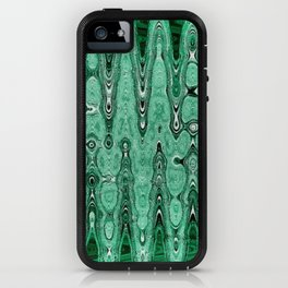 Abstract Pattern In Green. iPhone Case