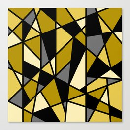 Geometric Pattern in Yellows and Black Canvas Print