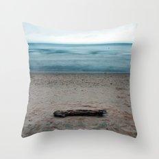Michigan Driftwood Throw Pillow