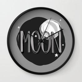 Bright Moon & Stars Wall Clock