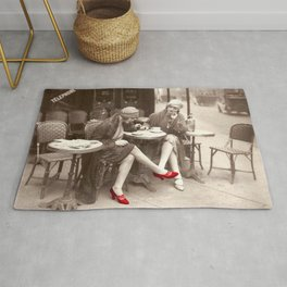 New Red Shoes Vintage Paris Photo Rug