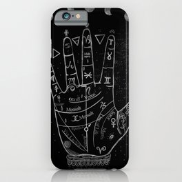 'Palmistry by Night' and moon phases by Kristen Baker iPhone Case