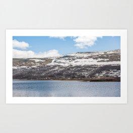 Norwegian lake Art Print