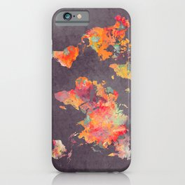 world map 67 iPhone Case