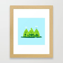 Monday Mountains Framed Art Print