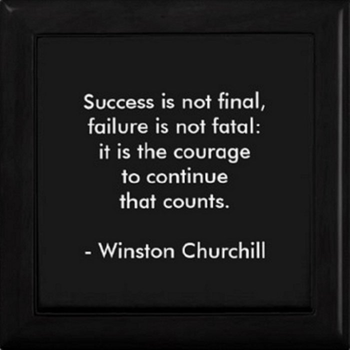 Winston Churchill Quote - Success Is Not Final - Famous Quotes Comforters