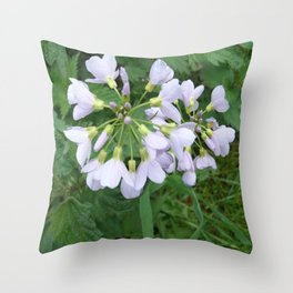 little purple flowers Throw Pillow