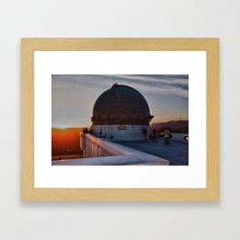 Griffith Observatory, Hollywood Sign Framed Art Print