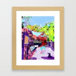 Enoshima Island Framed Art Print