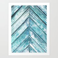 wooden Art Prints featuring WOODEN by Sorbetedelimon